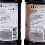 AGA Cola Light (vasemmalla) ja Cola Premium tuoteselosteet