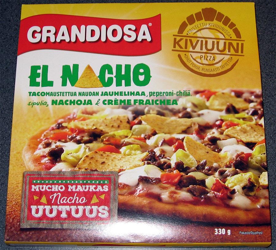 El Nacho pakastepizzan pakkaus
