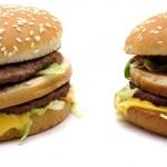 MacDonalds Big Macit vierekkäin