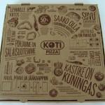 Americana toimitettiin Kotipizzan omassa pitsalaatikossa