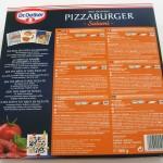 Pizzaburgerin valmistusohje ja tuoteseloste