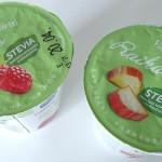 Stevia on mainittu näkyvästi tuotteen kannessa