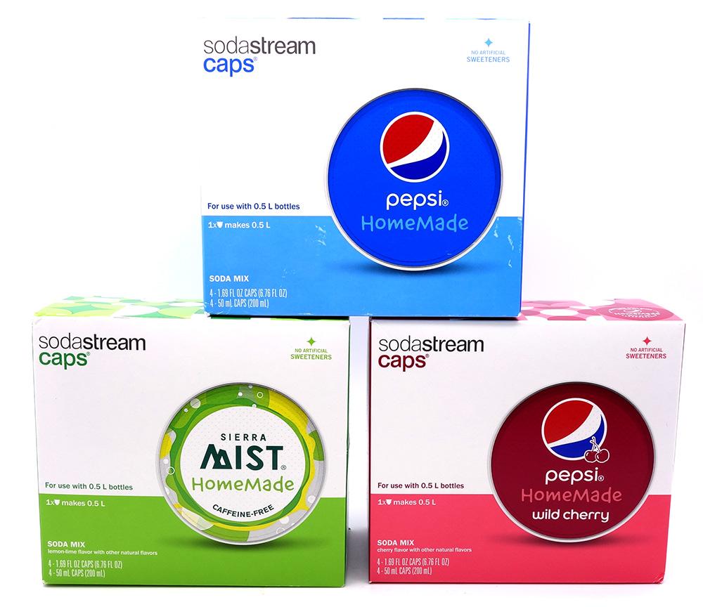 Pepsin valmistamat makutiivisteet SodaStream laitteisiin