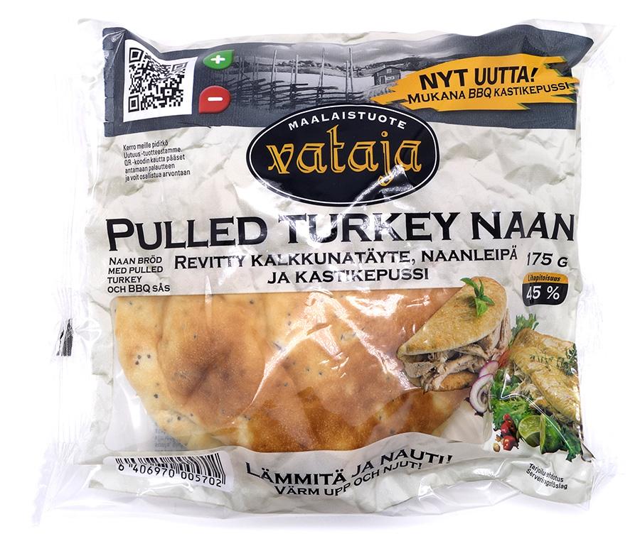 Vatajan Pulled Turkey Naan tuotteen pakkaus